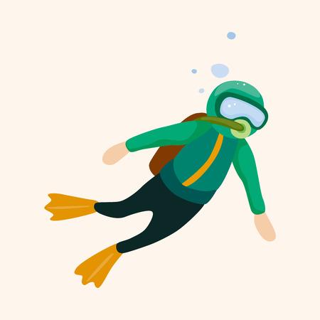 diver theme element Illustration