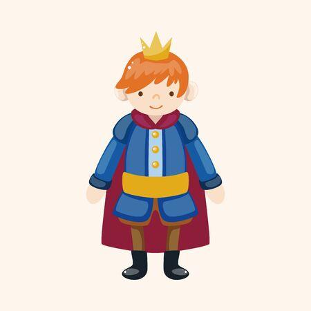 principe: Elementi tematici Prince Royal Vettoriali