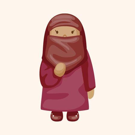 arabian: Arabian girl theme element