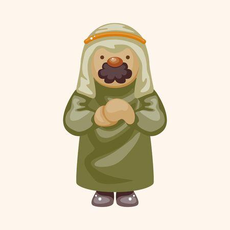 arabian: Arabian man theme element