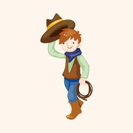 cowboy theme elements Vector