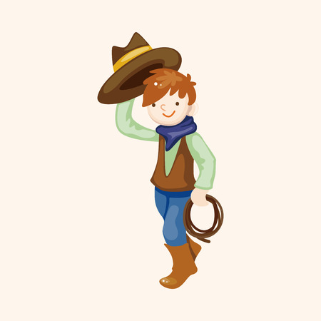 cowgirl and cowboy: cowboy theme elements