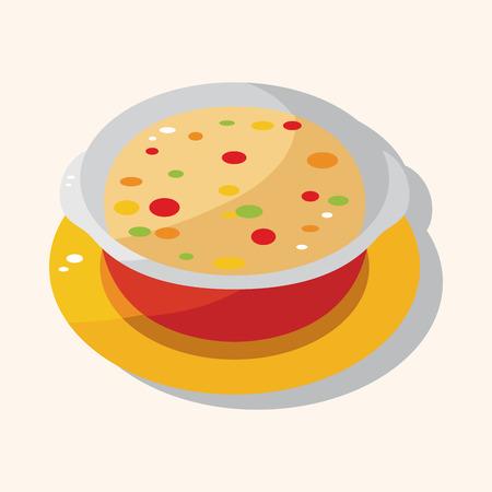 chowder: Corn chowder soup theme element Illustration