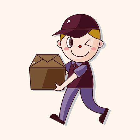 deliveryman: Elemento tema fattorino