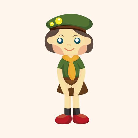 esploratori: Elemento tema Scout Vettoriali