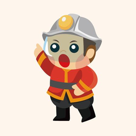 fireman: fireman theme element