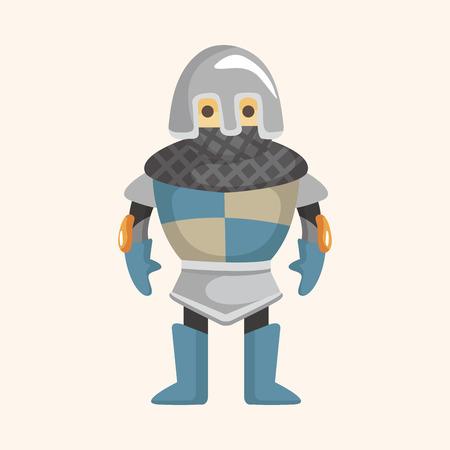 caballero medieval: elemento tema caballero