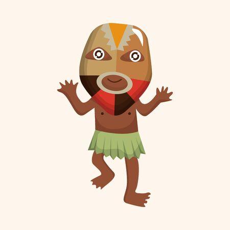 aborigine: Elemento tema aborigen Vectores
