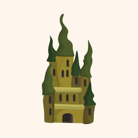 castillo medieval: elemento tema del castillo Vectores