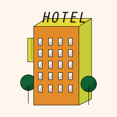 hotel building: Hotel Building theme element