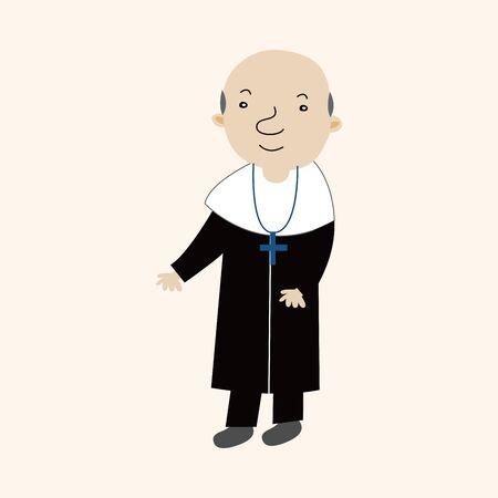 pastor: pastor theme element Illustration
