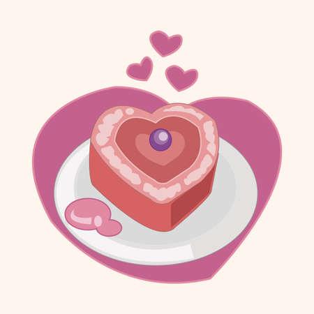 decorating: decorating cake flat icon element