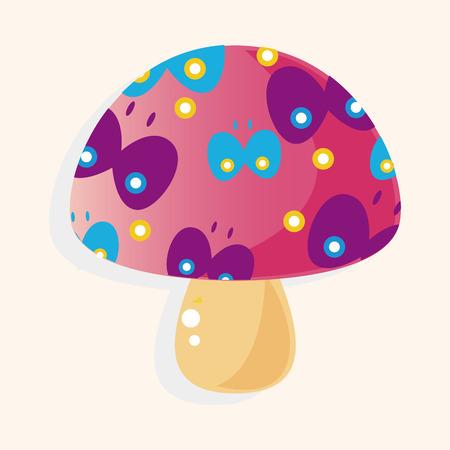 mushroom cartoon: mushroom cartoon theme element