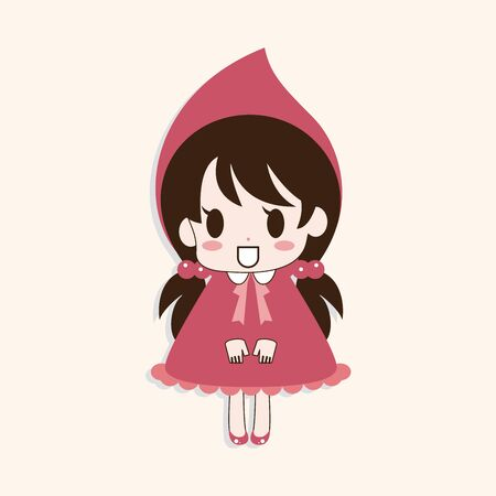 pretty: girl cartoon theme element