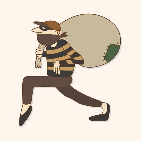 swag: thief theme element Illustration