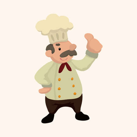 chef cartoon: chef theme elements