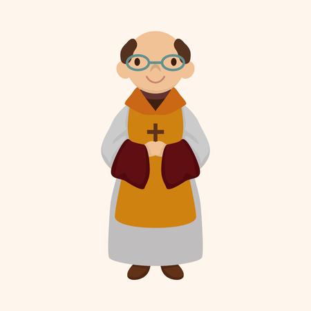 missionary: pastor theme element Illustration