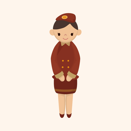 attendant: flight attendant theme element
