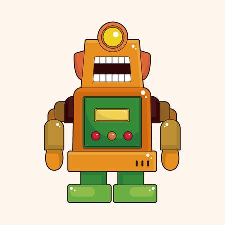 cute robot: robot theme element