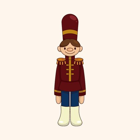 Toy Soldier theme element Vector