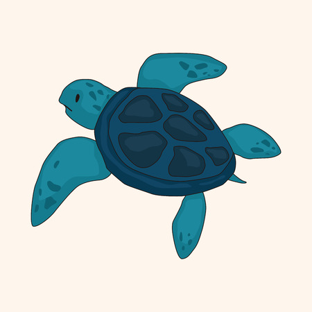 tortoise: Tortoise theme elements vector