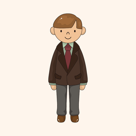 man cartoon theme element