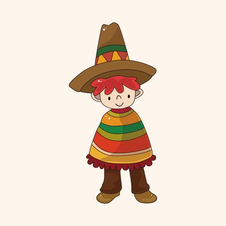 mexican boy: Mexican boy theme element Illustration