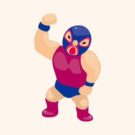 combative: Wrestler theme element