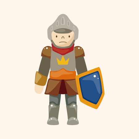 cartoon knight: knight theme elements