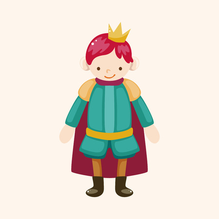 Royal theme prince elements Illustration