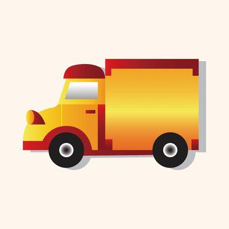 theme: truck theme elements vector