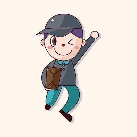 deliveryman: elementi tematici fattorino vettore