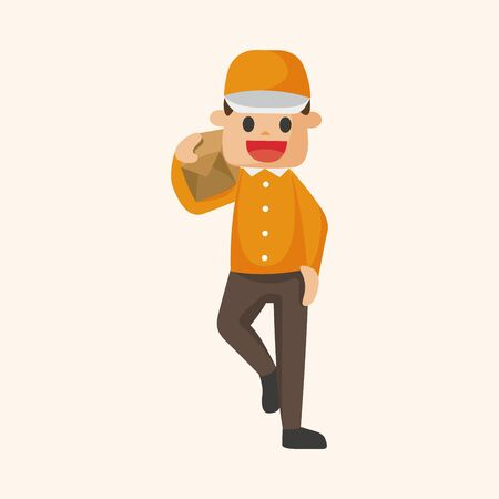 deliveryman: deliveryman theme elements vector Illustration
