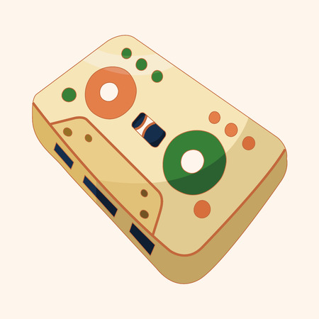 Audiotape theme elements Vector