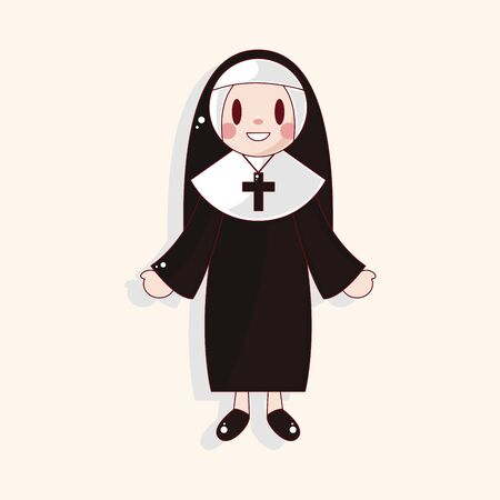 missionary: nun theme element Illustration