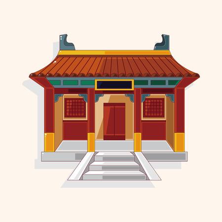 中国のテーマ要素を建物  イラスト・ベクター素材