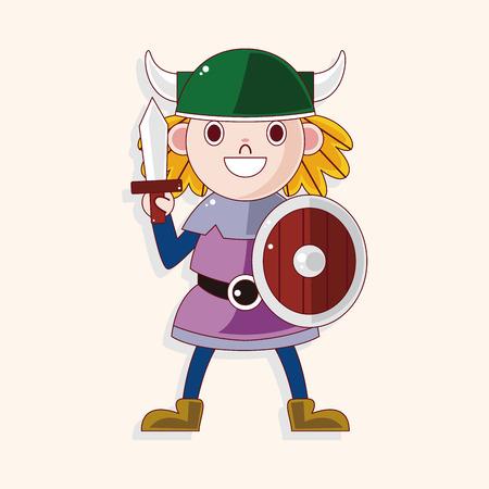 vikings: vikings theme elements