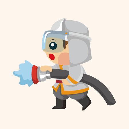 fireman: fireman theme elements Illustration