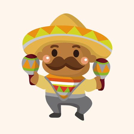 mexican sombrero: Mexican theme elements