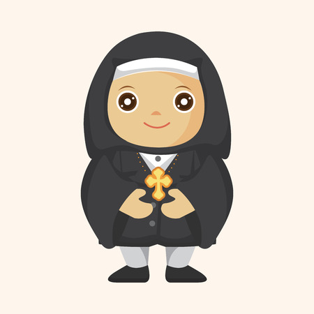 pastor: pastor and nun theme elements