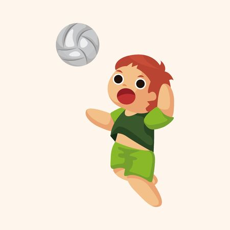 volleyball player: volleyball player theme elements Illustration