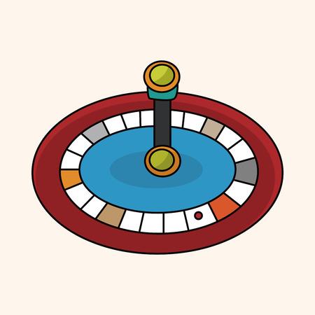 wheel of fortune: casino roulette theme elements