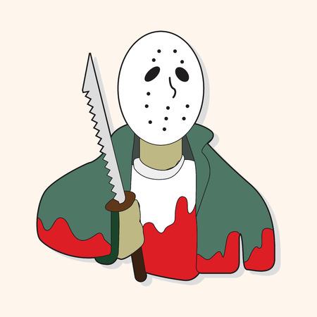 killer: Mask killer theme elements