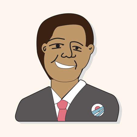 obama: US President Obama theme elements Illustration