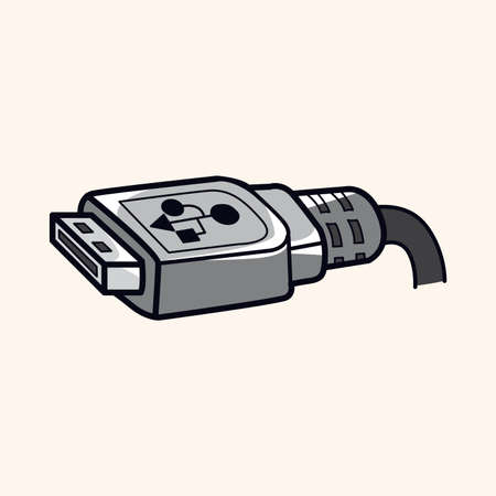 usb cable: Computer-related equipment usb cable theme elements Illustration