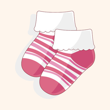 baby socks theme elements Vectores