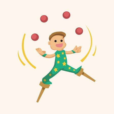 juggler: circus theme juggler elements