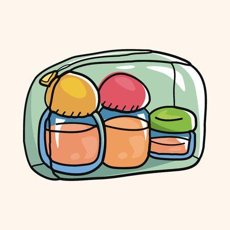 packaging equipment: wash bottle for traveling theme elements Illustration