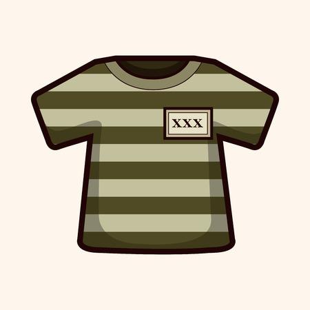 lawbreaker: prison garb theme elements Illustration