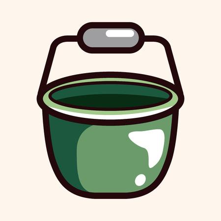 bucket water: Elementos del tema de cubo de agua Vectores